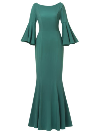 CASF Women's Full Length Maix Evening Dresses Green XL