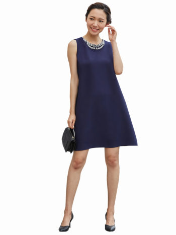 CASF Women's Summer Sleeveless Elegant Loose Dress Dark Blue XL